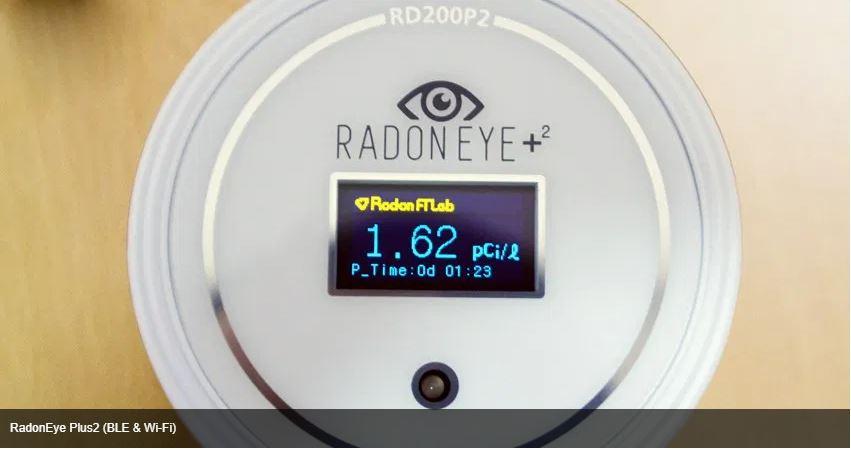 מכשיר לבדיקת ראדון בזמן אמת RADON EYE PLUS 2
